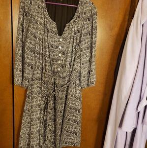 Polyester B&W dress